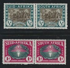 1939 South Africa Scott #B9-10 (SG #82-83) - ½d+½d and 1d+1d Semi-postals - MH