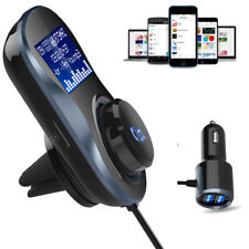 Bluetooth Car Kit MP3 Audio Player FM Transmitter Hands-free Mic USB Car Charger