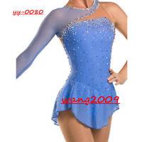 Ice Figure Skating Dress Gymnastics custome Dress Dance Competition Blue