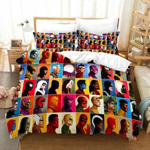 US Marvel Avengers Bedding Set 3PCS Superhero Duvet Cover Pillowcase Quilt Cover