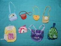 Authentic American Girl Doll Lot Bags Purses Backpacks