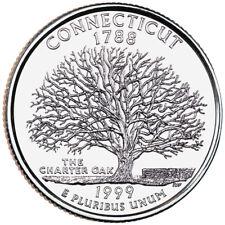 Quarter coin, USA 25 cents, Connecticut State Quarter, P, 1999