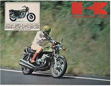Pubblicità 1973 KAWASAKI MOTOR MOTO 750 MACH advert werbung publicitè reklame