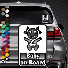 A84# Aufkleber Baby on Board Kind an Bord Tour Kinder Kids in Auto Buggy Sticker