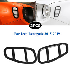 2*Side Lamp Covers Trims Car Styling Lampshade Frame Fit For Jeep Renegade 15-19