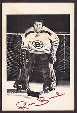 Ross Brooks 1970'S Autographed Boston Bruins Nhl Hockey Photo