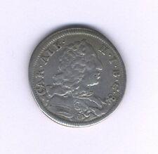 GERMAN STATES BAVARIA 1734  30 KREUZER (1/2 GULDEN) SILVER COIN, VF/XF