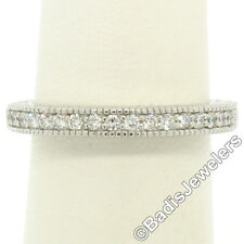 Vs1 Diamond Milgrain Etched Wedding Band Ring New 14k White Gold 0.17ctw Round F