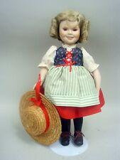 "Porcelain 14"" Shirley Temple ""Heidi"" by The Danbury Mint 1986 - All Original"