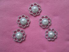 Silver Cardmaking & Scrapbooking Buttons