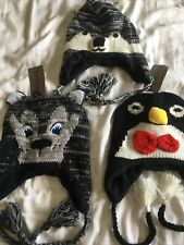 BNWT 3 x Kids Cosy Winter Christmas Hats Great Stocking Fillers present Gift