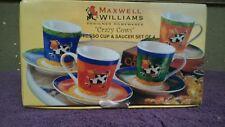 Maxwell Williams Crazy Cows Espresso Cups Set of 4