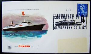 "1967 Cunard "" Launching by H.M The Queen of New Cunard "" Official Cover  PNC"