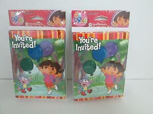 DORA THE EXPLORER  INVITATIONS &  THANK YOU CARDS - LOT OF 2 PACKAGES