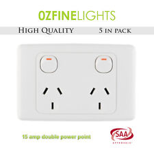 5X 15 AMP Double Electrical Power Point GPO Socket SAA APPROVED