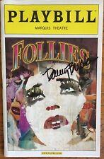 Signed Danny Burstein (Only) Follies Playbill  Bernadette Peters Elaine Paige