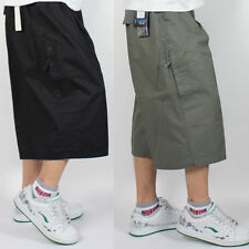 Men's Loose Cargo Shorts Casual Classic Flat Classic Short Cropped Pants Zsell