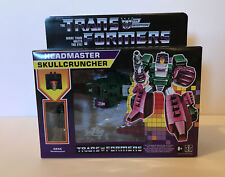 Transformers Headmasters G1 Reissue Wave 2 SkullCruncher Decepticon In Stock