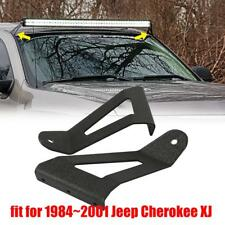 For Jeep Cherokee XJ Roof Windshield Mount Bracket fit 50'' Curved LED Light Bar
