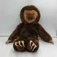 "Build-A-Bear Workshop Brown Sloth 18"" Plush Stuffed Animal Soft Toy"