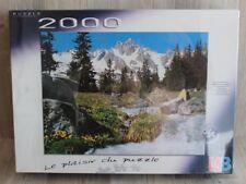 Puzzle MB 2000 pièces - Ruisseau et Montagne - 702 x 957 mm - NEUF sous blister