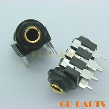 "Generic 1/4"" 6.35mm Stereo Female AMP Headphone Jack socket Terminal PCB Mount*2"