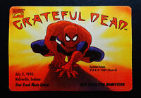 Grateful Dead Backstage Pass Spiderman Spider-Man Marvel Comics 7/2/95 7/2/1995