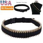 50 Rounds Rifle Bullet Cartridge Bandolier Ammo Belt for 308 cal. 30-30 30-06