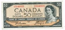1954 (1955-61) CANADA 50 DOLLARS NOTE - p81a