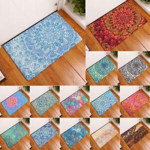 blesiya Bohemian Mandala Flower Door/ Floor Mat Kitchen Absorbent Rug Carpet