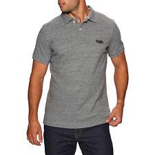 Superdry Classic Pique T-shirt Polo Shirt - Flint Steel Grit All Sizes