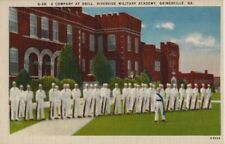 Vintage Postcard - A Company at Drill -Riverside Military Academy Gainesville GA