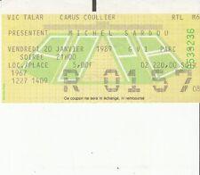 BILLET CONCERT MICHEL SARDOU  (PALAIS OMNISPORTS PARIS BERCY 20 JANVIER 1989)