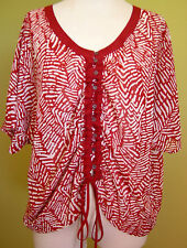 Ladies Womens Ruched Button Front Short Sleeve Blouse Top Jacqui-E Size 12