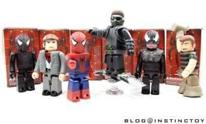 MEDICOM 100% SPIDER-MAN SPIDERMAN 3 KUBRICK FIGURE SET (6 PCS) WITH CHASE NEW