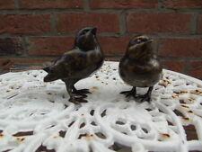 statue en bronze de 2 oiseaux couple    , animaux en bronze