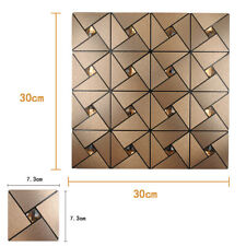 4Pack Aluminum Self Adhesive Wall Tiles Kitchen Backsplash Panels Peel and Stick