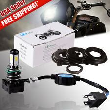 1X H4 5 COB HID White Motorcycle LED Headlight Kit Hi/Lo Beam Light 2500LM 25W