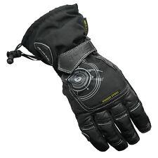 G-Mac Pilot Waterproof Motorcycle Leather/Textile Motorbike Leather Gloves Black