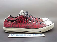 Converse Red Chuck Taylor All-Star Ox Low Zebra Red White Black Canvas sz 8
