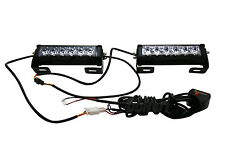 36W LED Strobe Light Bar Emergency Beacon Safety Warning Flash Lamp White light