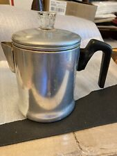 Vtg Century Aluminum 5 cup coffee pot camping fishing motor home stove top