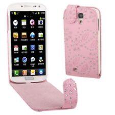 Flip Case/Handy-Tasche zu Samsung Galaxy S4 GT-I9505 GLITTER Pink Schutz-Hülle