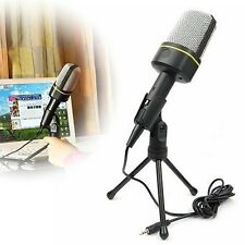 3.5 mm Stereo Condenser Audio Recording Desktop Microphone with Mic Mount Stand