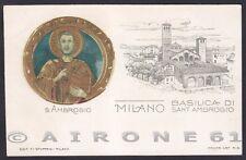 MILANO CITTÀ 287 SANT'AMBROGIO Cartolina IN RILIEVO primi '900