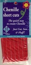 Red Chenille Short Cuts 216 linear inches Needlecraft Trims June Tailor