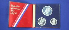 1976 U.S. Proof 40% Silver Three Piece 1776-1976 Commemorative Coin Set