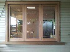 3 sash solid Pacific Maple bifold / multifold window unit