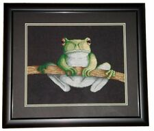 Green Tree Frog Counted Cross Stitch Pattern