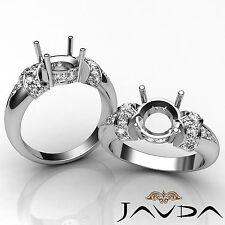 Natural Diamond Engagement Ring Platinum 950 Beautiful Round Semi Mount 0.35Ct